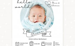 010 Stirring Free Baby Announcement Template Highest Clarity  Templates Boy Photoshop Printable Shower Invite