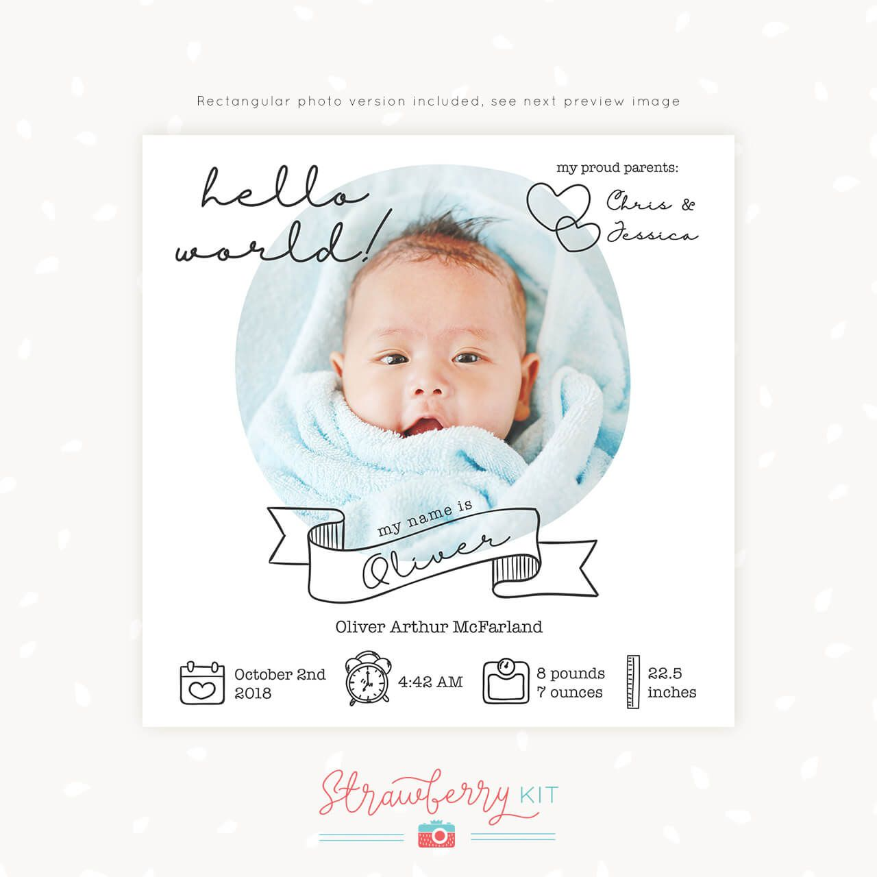 010 Stirring Free Baby Announcement Template Highest Clarity  Templates Boy Photoshop Printable Shower InviteFull