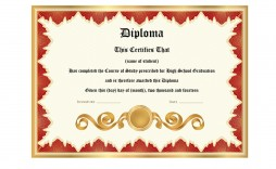 010 Stirring Free Diploma Template Download Image  Word Certificate High School Appreciation
