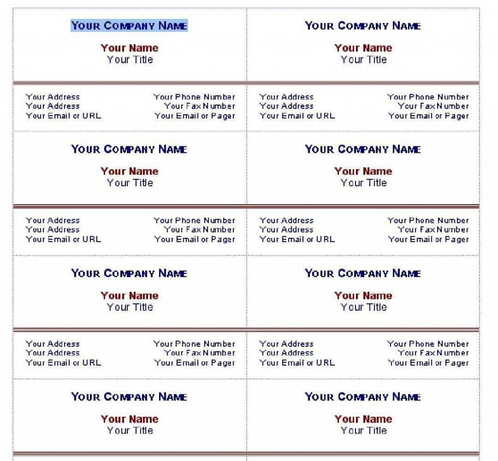 010 Stirring Free Simple Busines Card Template Word Idea Large