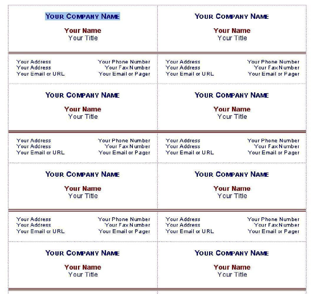 010 Stirring Free Simple Busines Card Template Word Idea Full