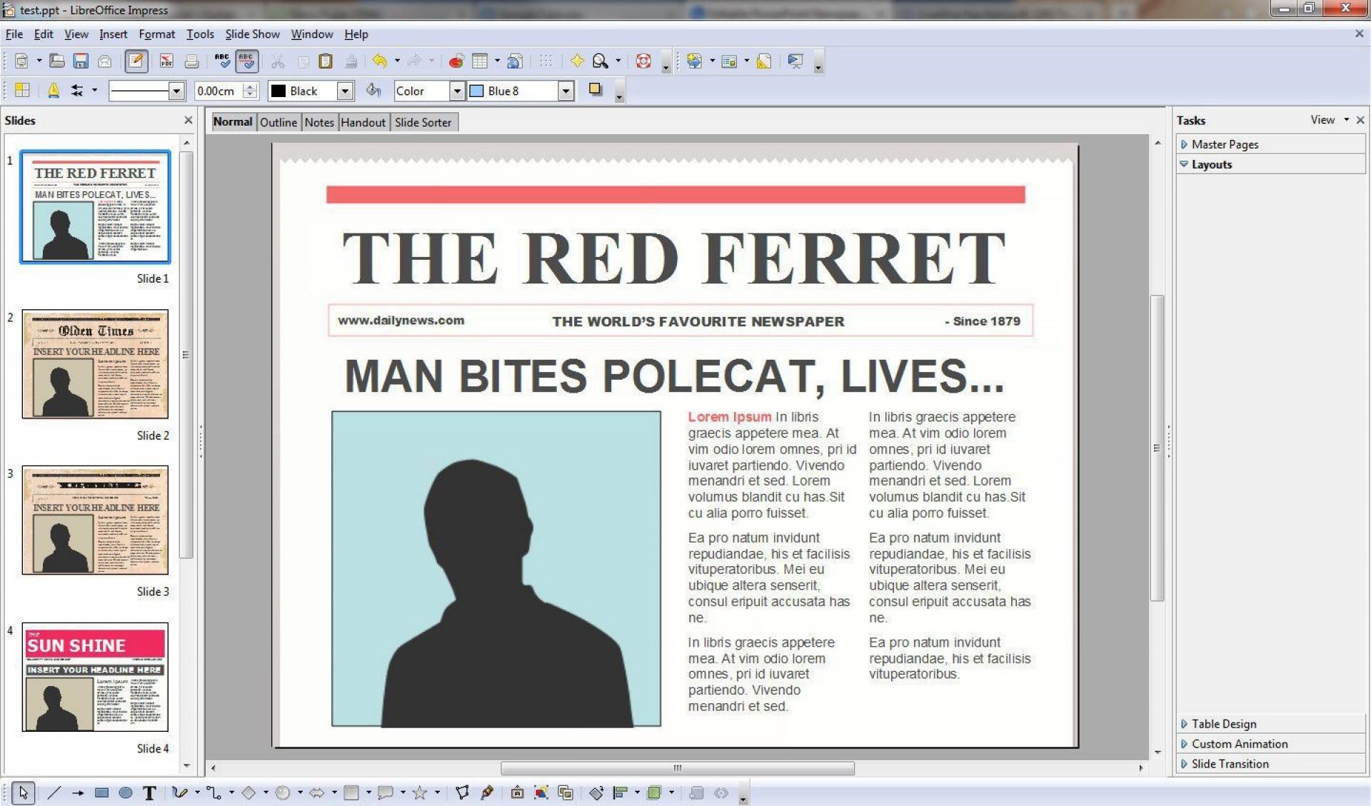 010 Stirring Word Newsletter Template Free Download Sample  Document M 2007 Design1920