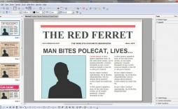 010 Stirring Word Newsletter Template Free Download Sample  Document M 2007 Design