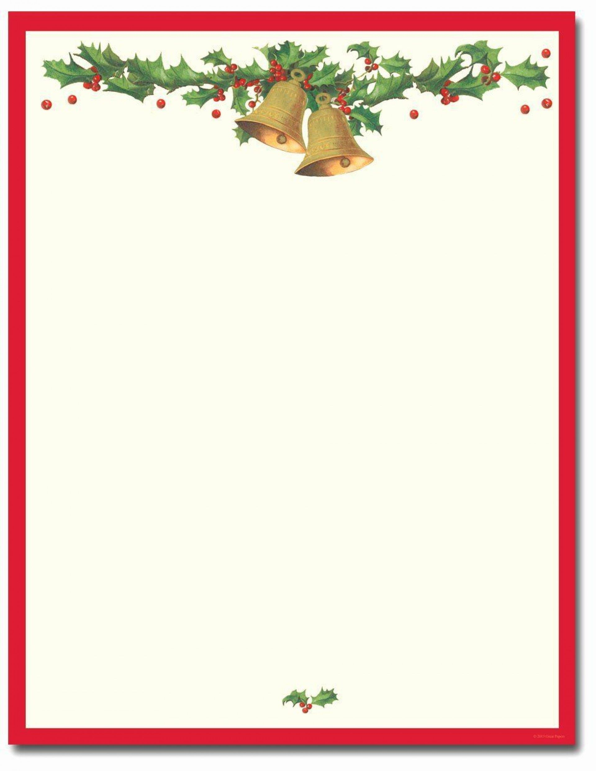 010 Striking Christma Stationery Template Microsoft Word High Resolution  FreeFull