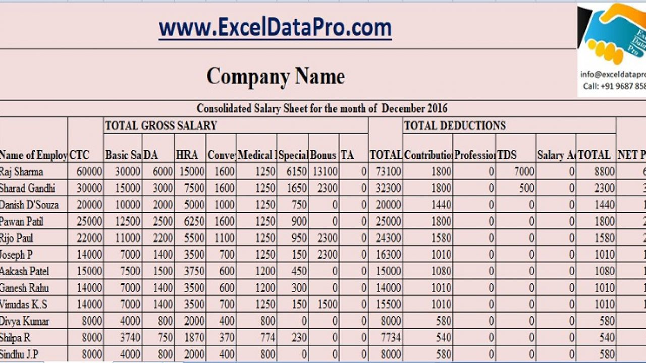 010 Striking Excel Payroll Template 2016 Sample Full