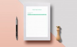 010 Striking Office Visitor Sign In Sheet Template Image
