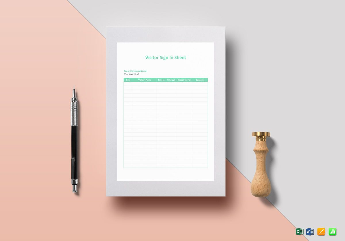 010 Striking Office Visitor Sign In Sheet Template Image Full