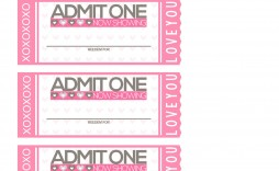010 Striking Print Ticket Free Template Image  Your Own