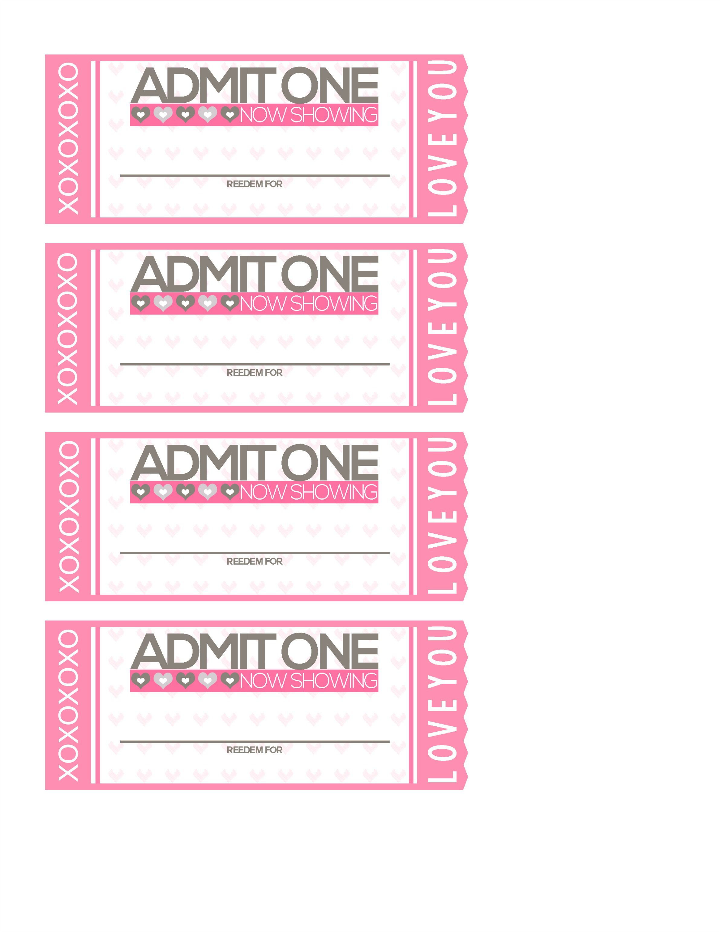 010 Striking Print Ticket Free Template Image  Your OwnFull