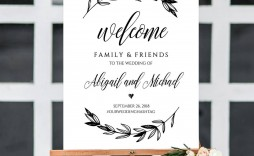 010 Striking Wedding Welcome Sign Printable Template High Def  Free