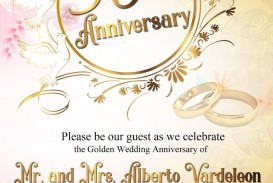010 Stunning 50th Anniversary Party Invitation Template Example  Wedding Free Download Microsoft Word