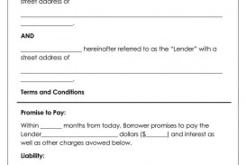 010 Stunning Family Loan Agreement Template Sample  Nz Uk Free