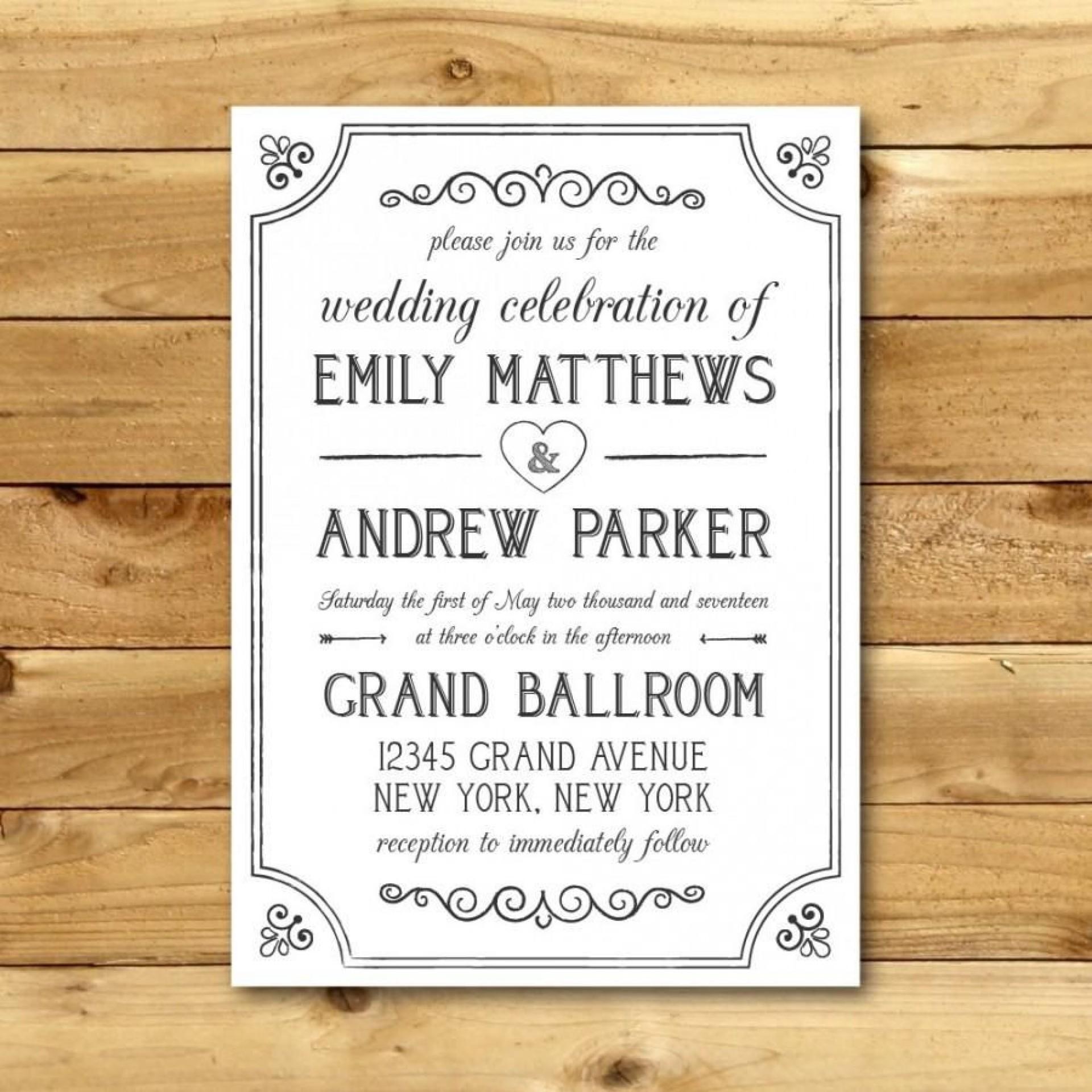 010 Stunning M Word Invitation Template Image  Microsoft Card Wedding Free Download Editable1920