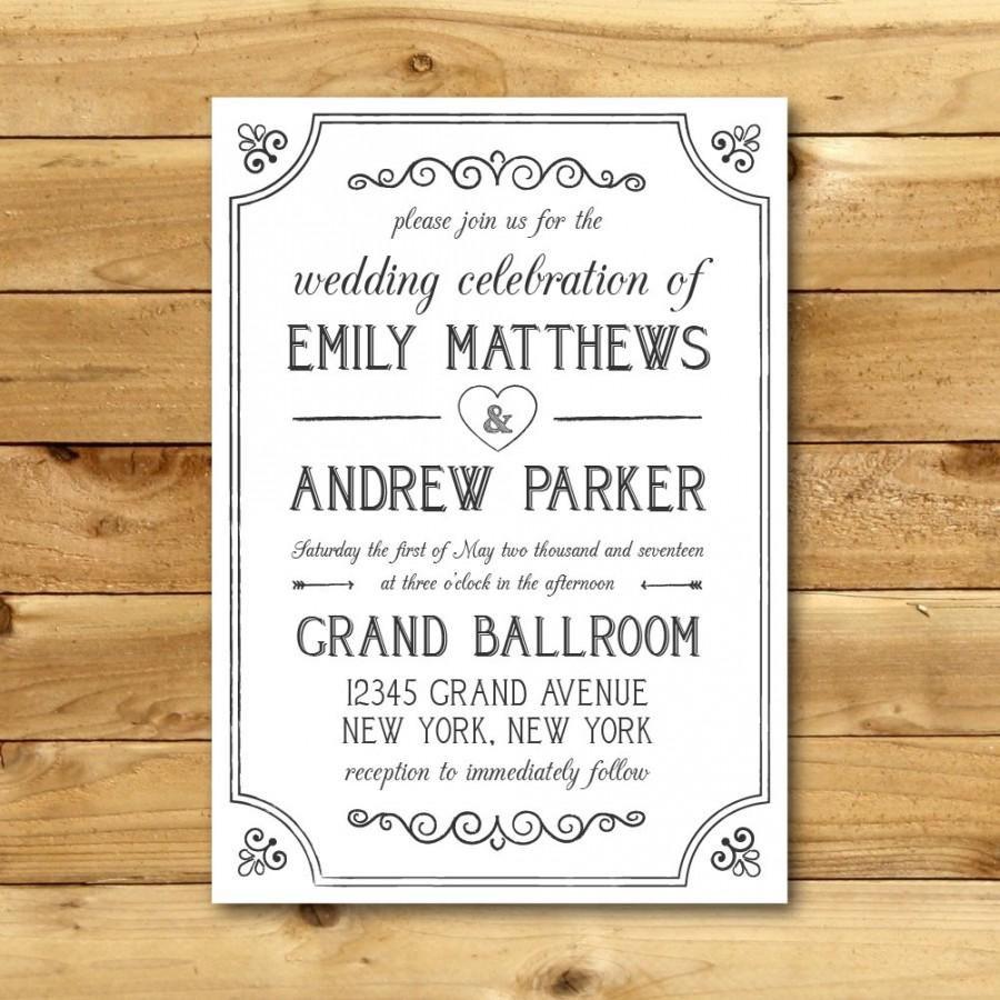 010 Stunning M Word Invitation Template Image  Microsoft Card Wedding Free Download EditableFull