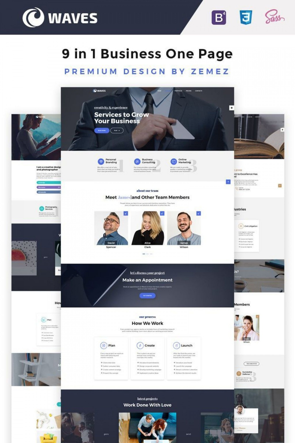 010 Stupendou Creative One Page Website Template Free Download Design Large