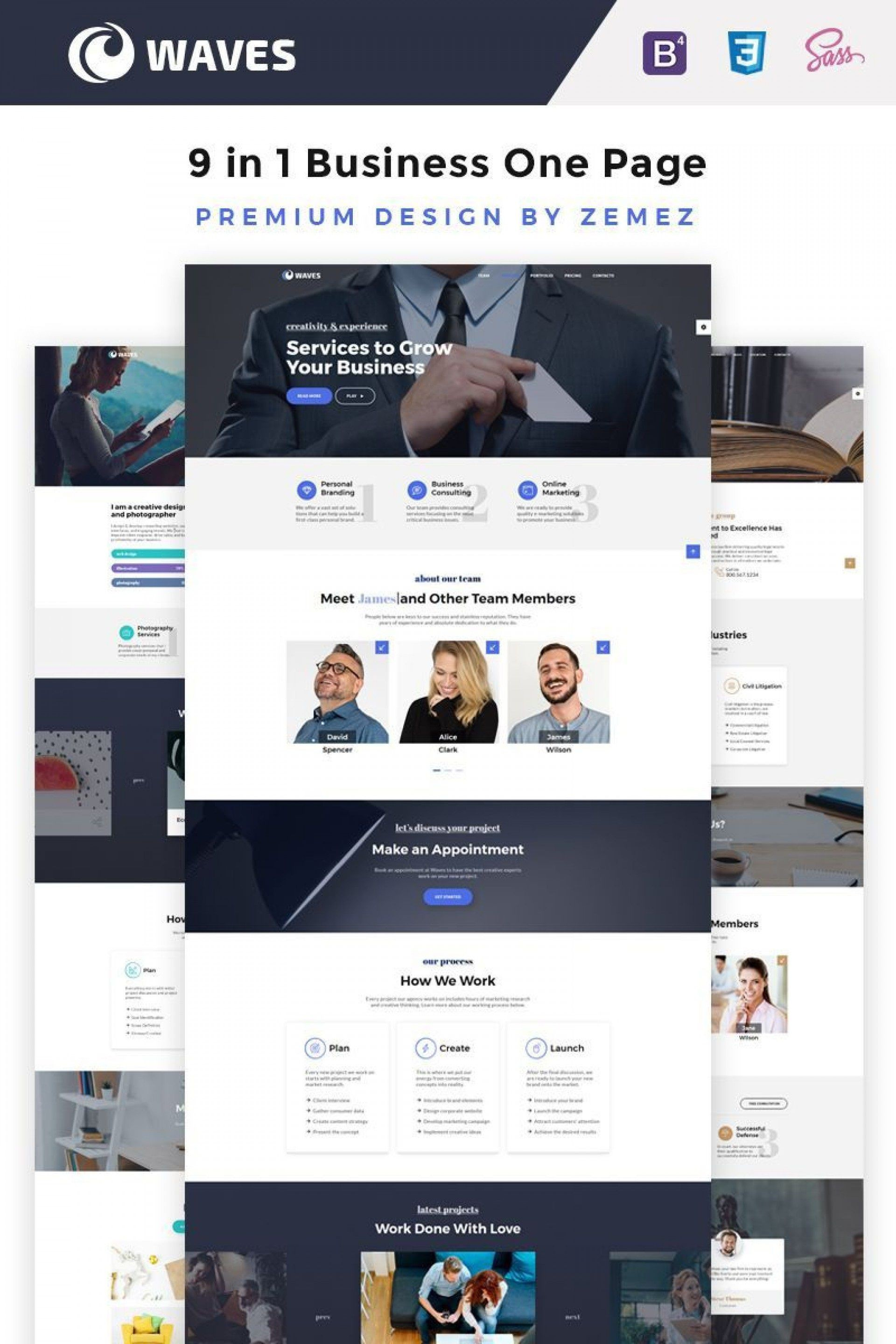 010 Stupendou Creative One Page Website Template Free Download Design 1920