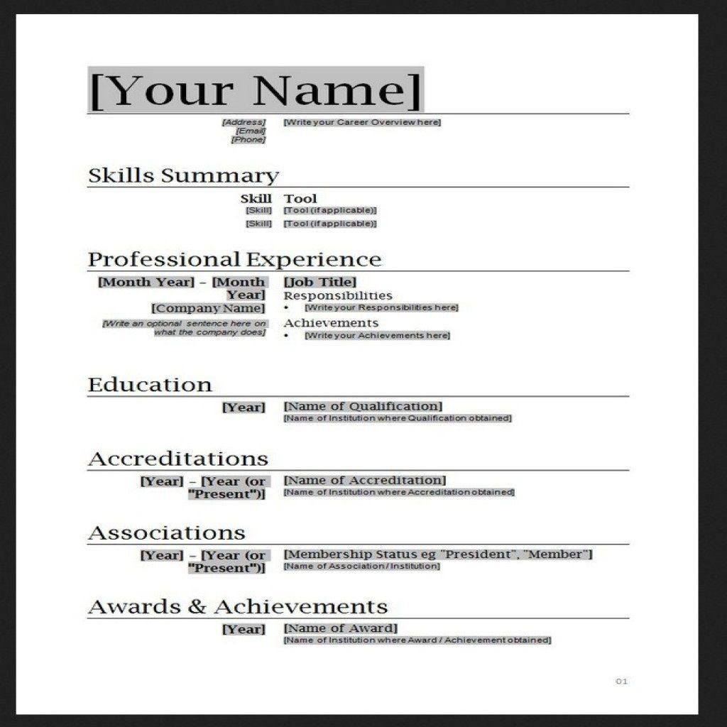 010 Stupendou Free Simple Resume Template Microsoft Word Photo Large