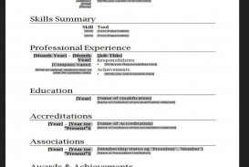 010 Stupendou Free Simple Resume Template Microsoft Word Photo
