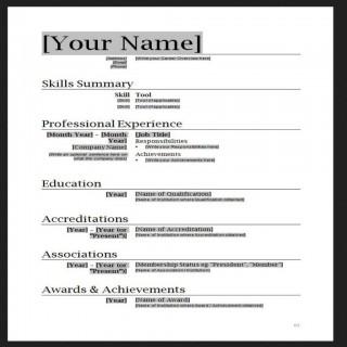 010 Stupendou Free Simple Resume Template Microsoft Word Photo 320
