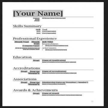 010 Stupendou Free Simple Resume Template Microsoft Word Photo 360