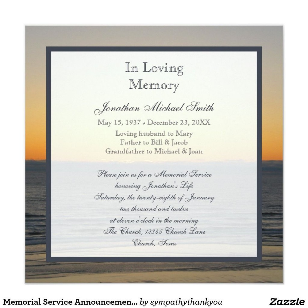 010 Stupendou Funeral Invitation Template Free Picture  Printable Service WordLarge