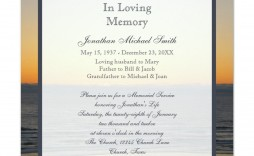 010 Stupendou Funeral Invitation Template Free Picture  Printable Service Word