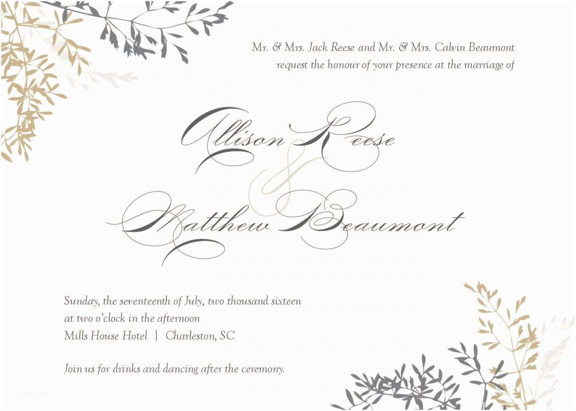 010 Stupendou Wedding Invitation Template Word Highest Quality  Invite Wording Uk Anniversary Microsoft Free Marriage1920