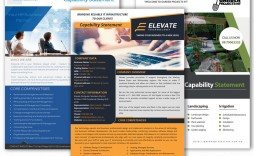 010 Surprising Capability Statement Template Free Concept  Word Editable Design