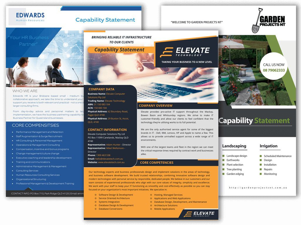 010 Surprising Capability Statement Template Free Concept  Word Editable DesignFull
