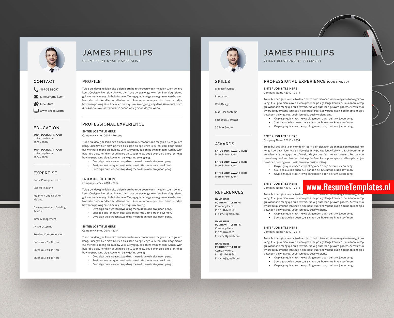 010 Surprising Simple Professional Cv Template Word Highest Quality Full