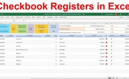 010 Top Checkbook Register Template Excel 2013 Design