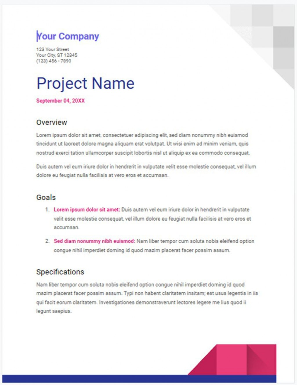 010 Top Free Project Proposal Template Idea  Document Ppt PdfLarge