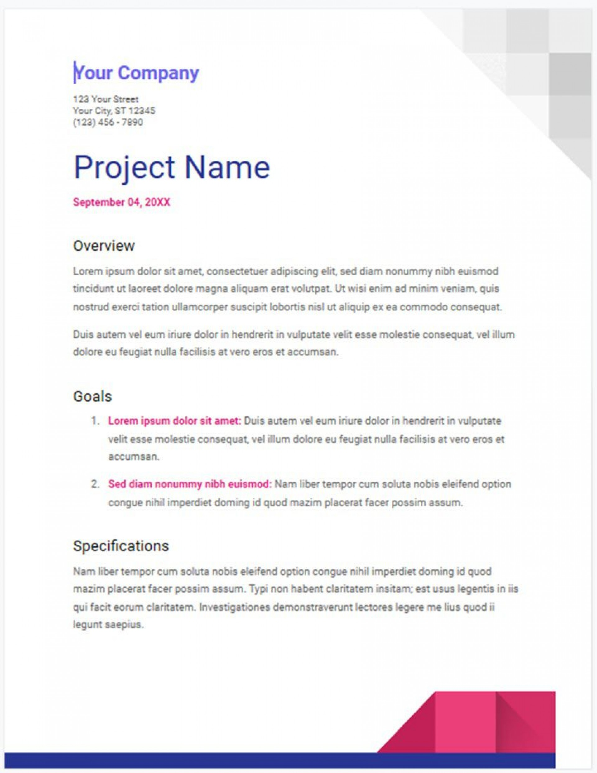 010 Top Free Project Proposal Template Idea  Document Ppt Pdf1920