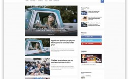 010 Top Free Responsive Blogger Template One Column Image