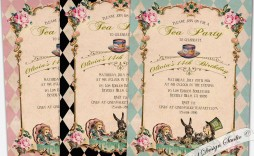 010 Unbelievable Alice In Wonderland Invite Template Design  Party Invitation Free