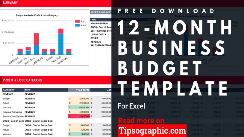 010 Unbelievable Excel Busines Budget Template High Definition  Small Monthly Yearly Free SpreadsheetLarge