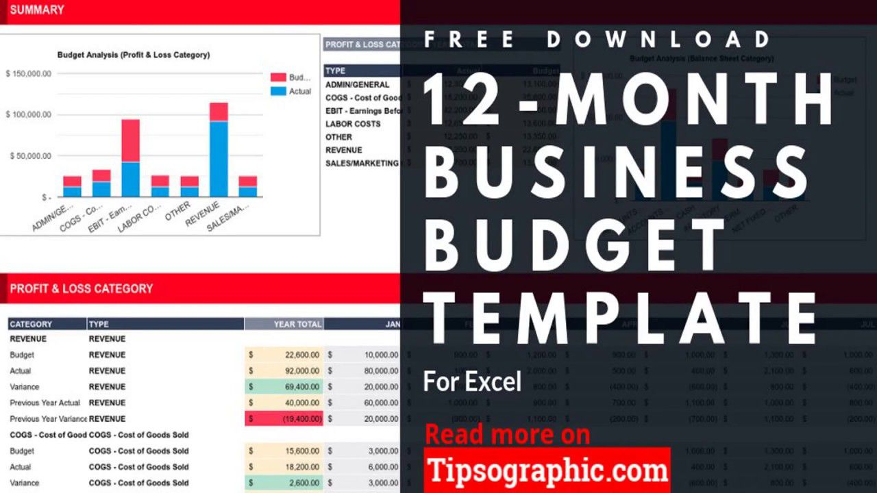 010 Unbelievable Excel Busines Budget Template High Definition  Small Monthly Yearly Free SpreadsheetFull