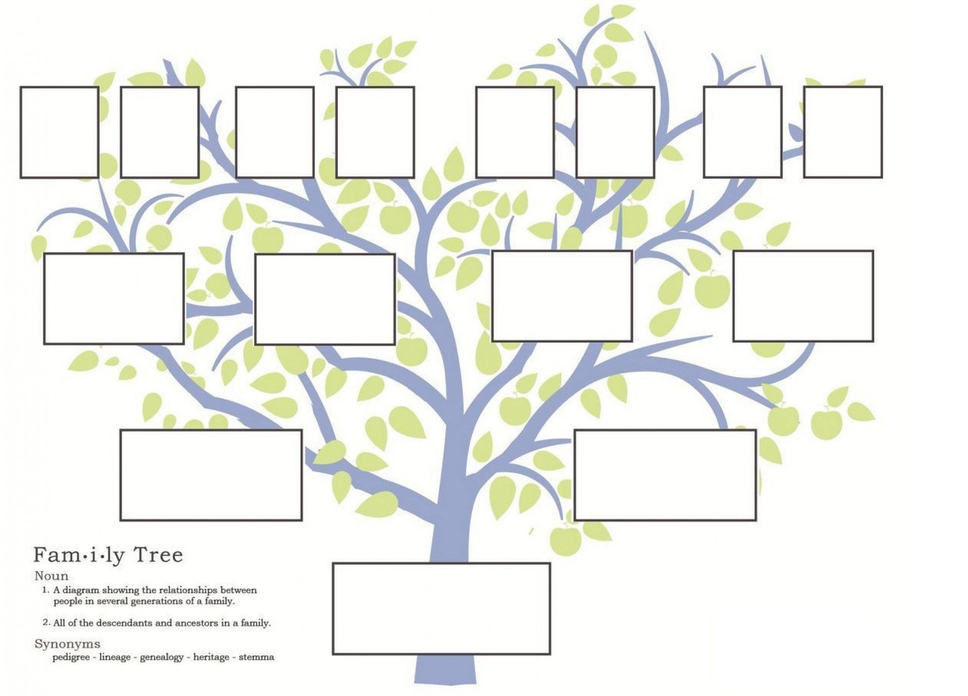 010 Unbelievable Family Tree Template Word Free Download Image 1920