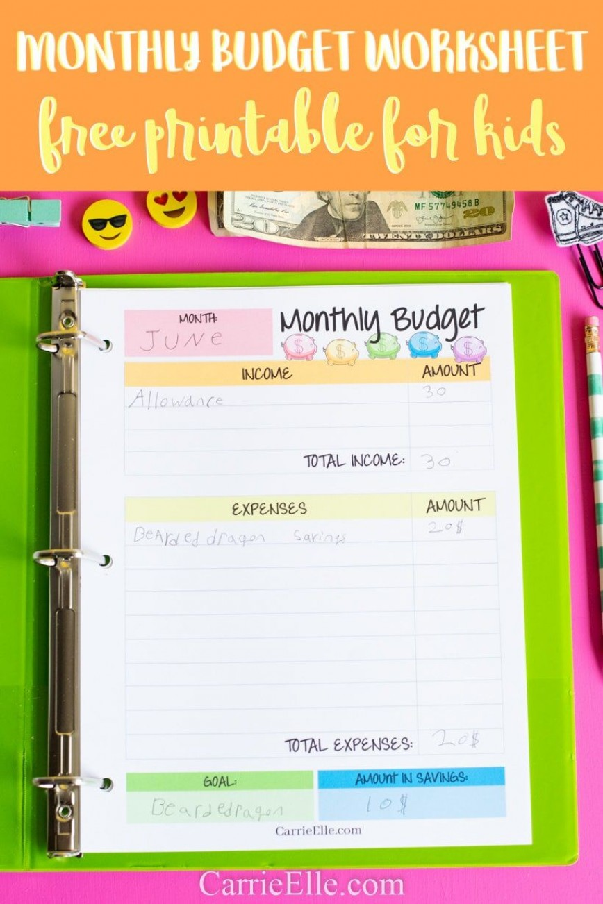 010 Unbelievable Free Monthly Budget Template Picture  Household Excel Expense Report Download868