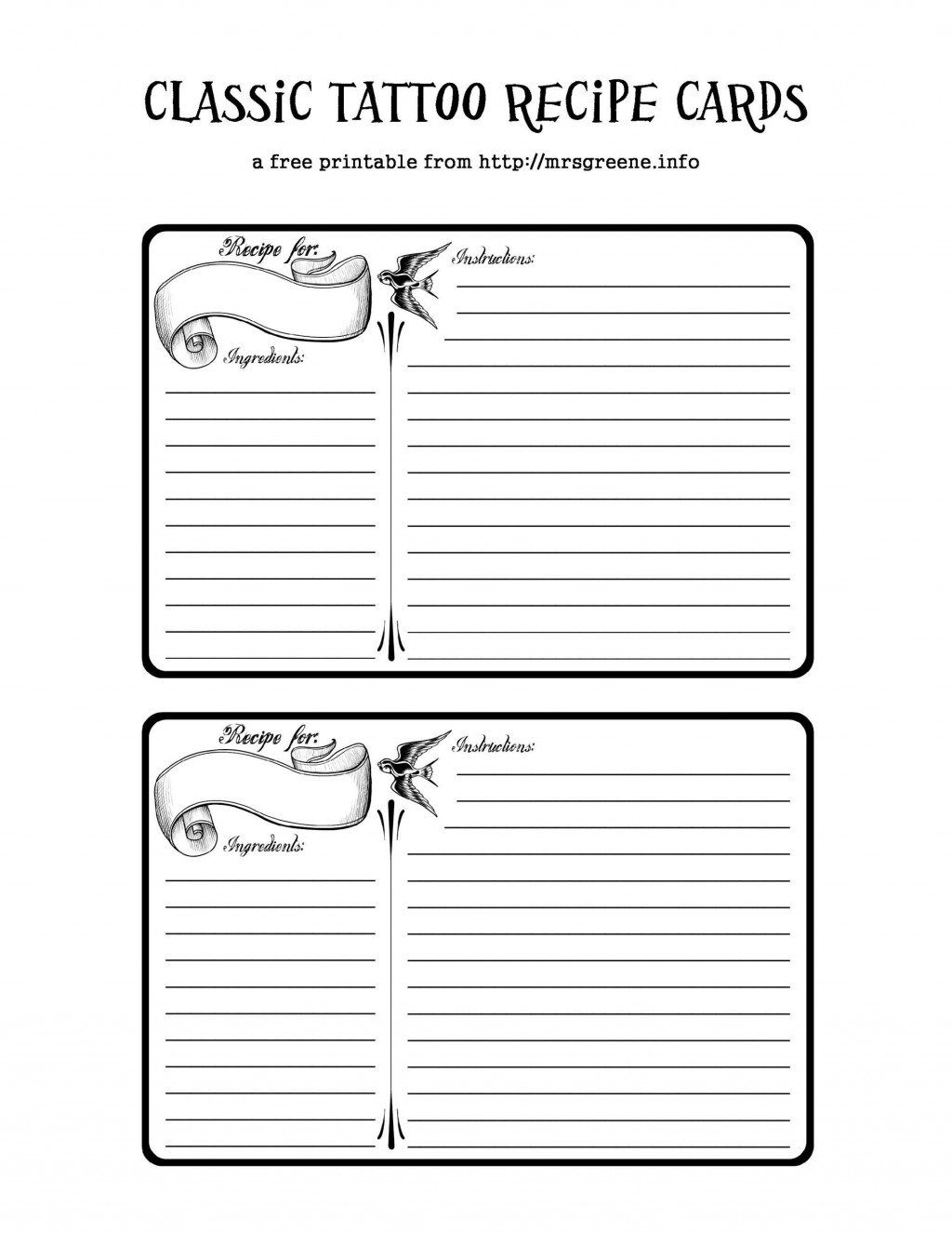 010 Unbelievable Free Recipe Template For Word Sample  Book Editable Card Microsoft 4x6 PageLarge