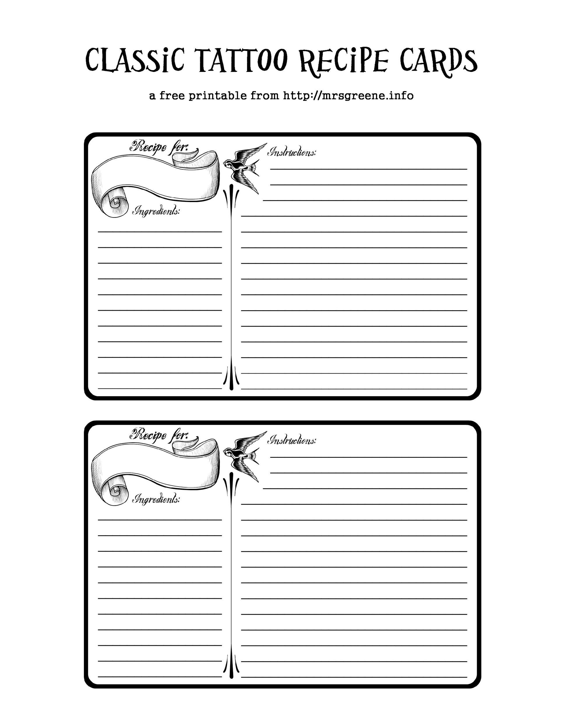 010 Unbelievable Free Recipe Template For Word Sample  Book Editable Card Microsoft 4x6 PageFull