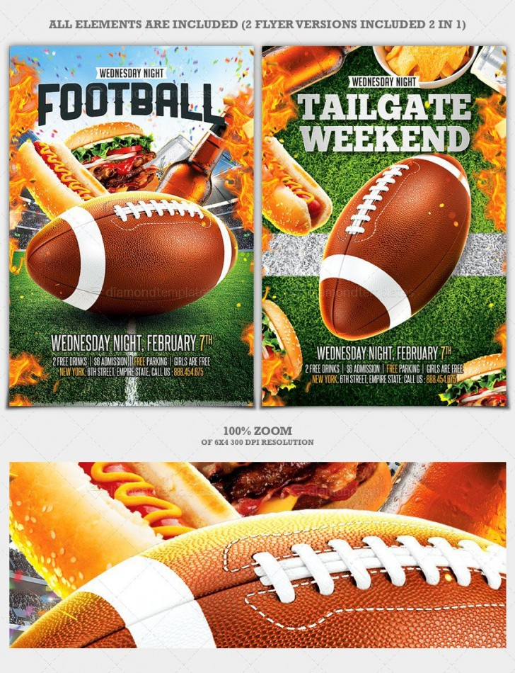 010 Unbelievable Free Tailgate Party Flyer Template Download High Def 728