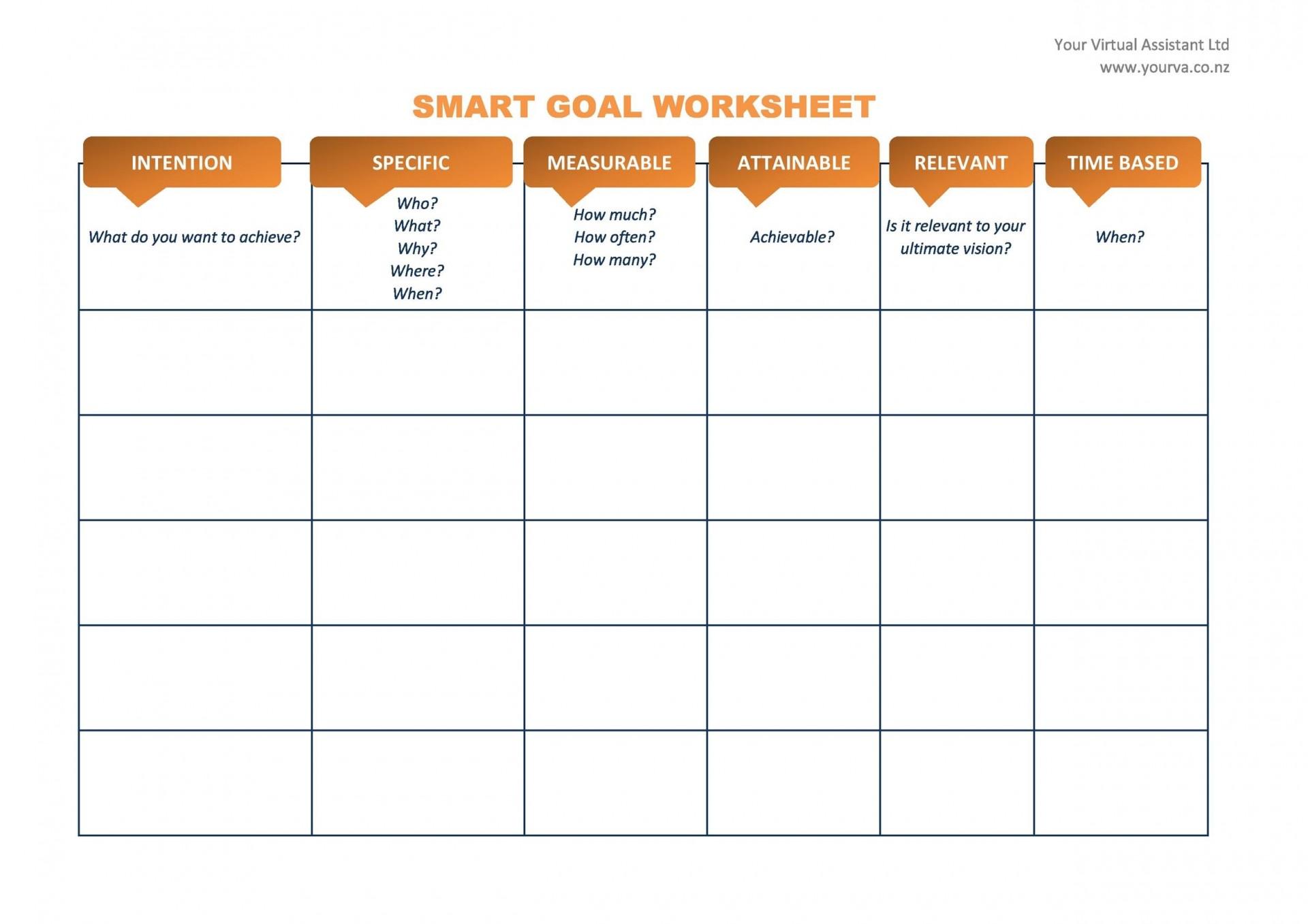 010 Unbelievable Smart Goal Template Excel Sample  Free Setting Worksheet1920