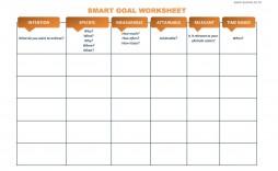 010 Unbelievable Smart Goal Template Excel Sample  Free Setting Worksheet
