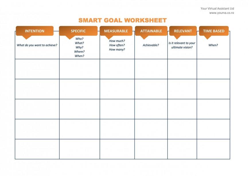 010 Unbelievable Smart Goal Template Excel Sample  Editable Setting Worksheet