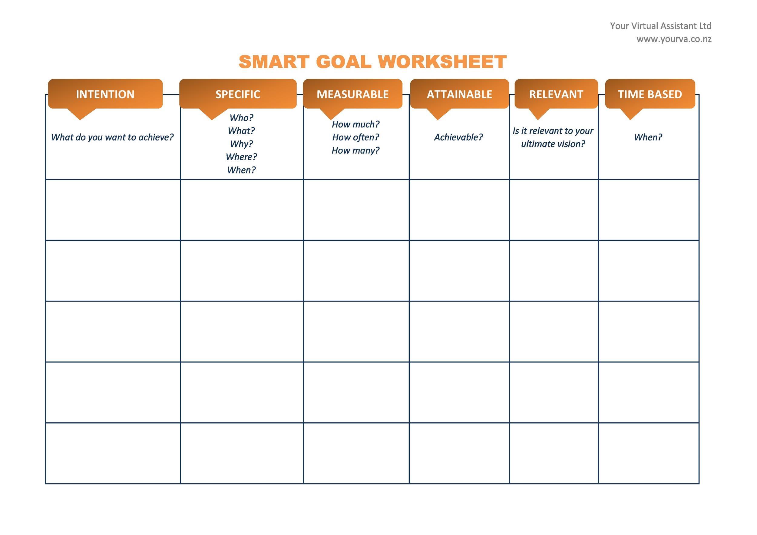 010 Unbelievable Smart Goal Template Excel Sample  Free Setting WorksheetFull