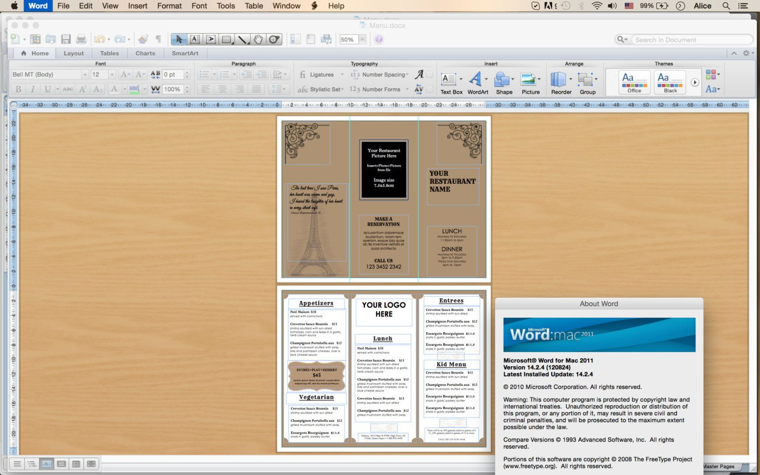 010 Unbelievable Tri Fold Take Out Menu Template Free Word High Def Full