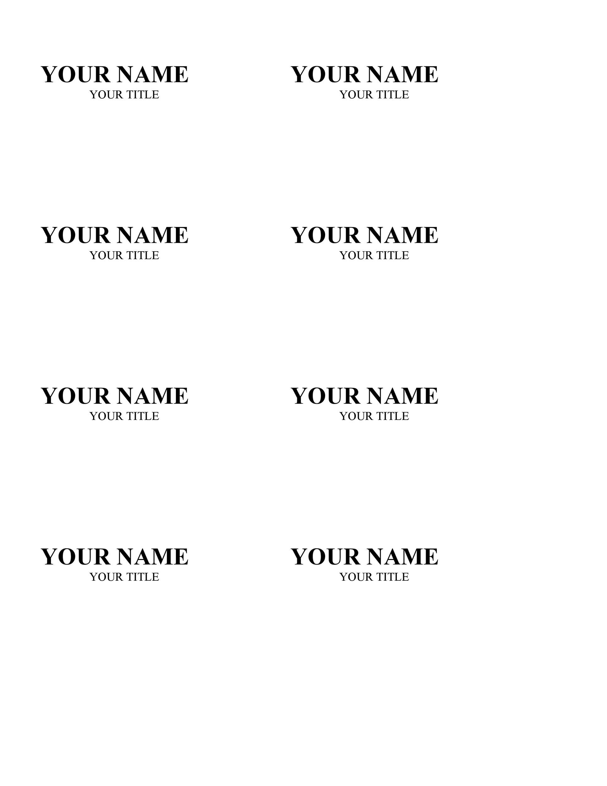 010 Unforgettable Name Badge Template Word Concept  Free Download 2010 Avery 5392Full