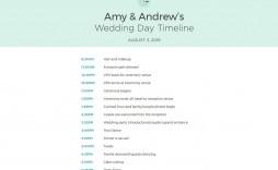 010 Unforgettable Wedding Timeline Template Free Download Sample