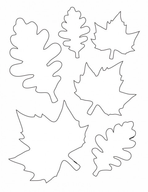 010 Unique Blank Leaf Template With Line Inspiration  Printable480